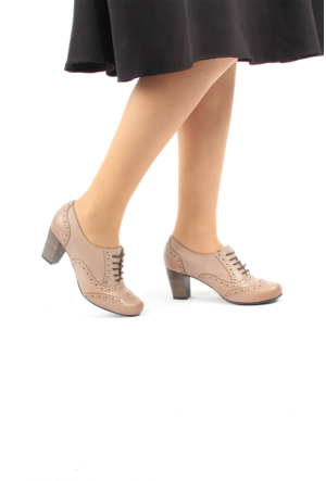 Gön Vizon Antik Deri Kadın Ayakkabı 22316