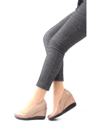 Gön Vizon Antik Deri Kadın Ayakkabı 22373