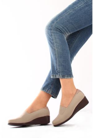 Gön Vizon Streçe Vizon Deri Kadın Ayakkabı 22385