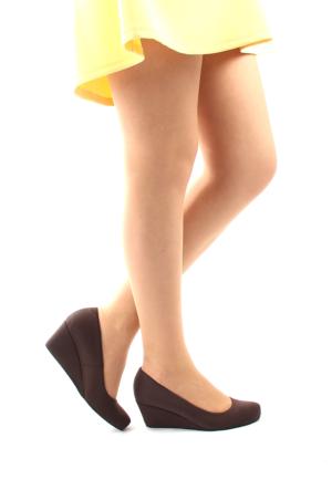 Gön Deri Kadın Ayakkabı 23165 Kahverengi Streç