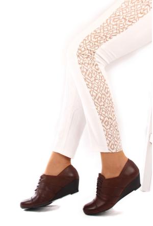 Gön Deri Kadın Ayakkabı 23168 Vizon Antik
