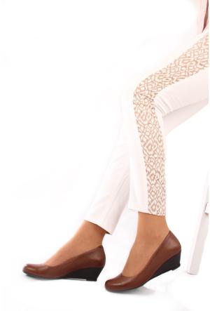 Gön Deri Kadın Ayakkabı 23169 Vizon Antik