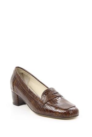 Gön 22337 Taba Krako Deri Kadın Ayakkabı