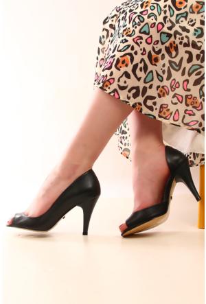 Gön 22342 Haki Antik Deri Kadın Ayakkabı