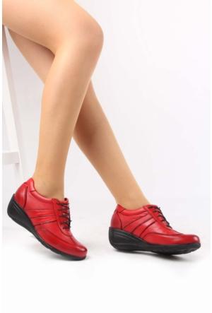 Gön Kırmızı Rugan Deri Kadın Ayakkabı 22370