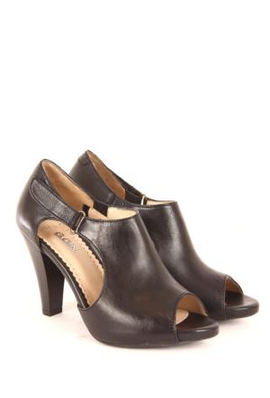 Gön Deri Kadın Sandalet 25959 Siyah