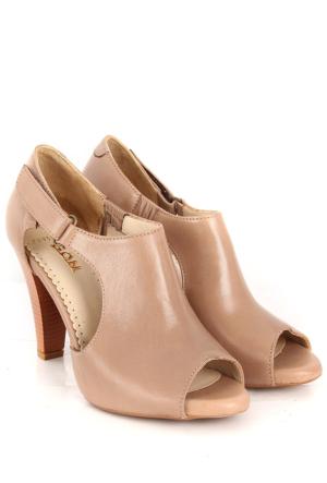 Gön Deri Kadın Sandalet 25959 Kum Antik