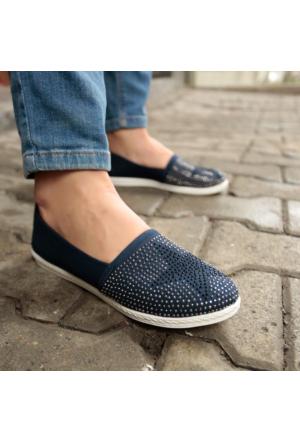 İnce Topuk Zımbalı Espadril Ayakkabı