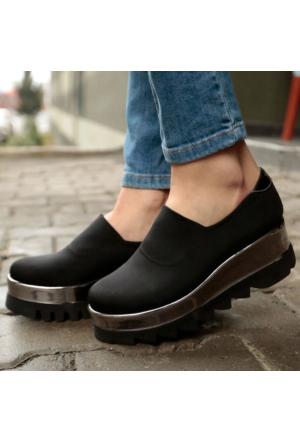 İnce Topuk Dolgu Topuk Ayakkabı