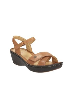 Clarks Un Dima Kadın Dolgu Topuk Sandalet Taba
