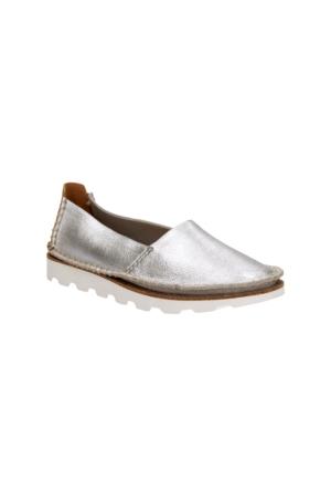 Clarks Damara Chic Kadın Espadril Ayakkabı Gümüş