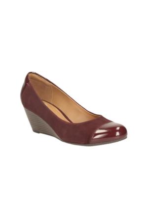 Clarks Brielle Andi Kadın Dolgu Topuk Ayakkabı Bordo