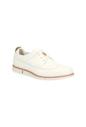 Clarks Trigen Limit Erkek Oxford Ayakkabı Beyaz