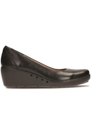 Clarks Un Cass Kadın Dolgu Topuk Ayakkabı Siyah