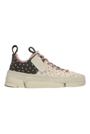 Clarks Trigenic Flex Kadın Sneaker Ayakkabı Ekru