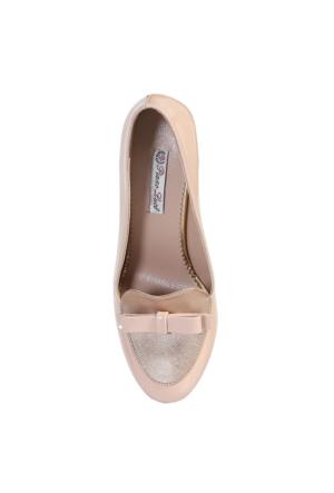 Piano Luce Kalın Topuklu Rugan Fiyonklu Ayakkabı PLA05