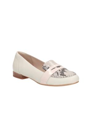 Clarks Festival Grace Kadın Loafer Ayakkabı Beyaz