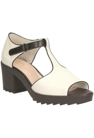 Clarks Genevie Bubble Kadın Sandalet Beyaz