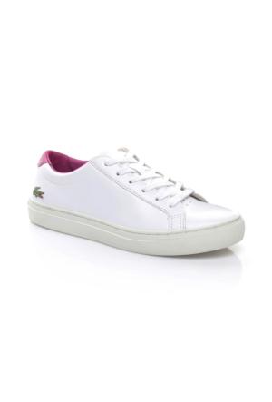 Lacoste L.12.12 Kadın Beyaz-Mor Sneaker Ayakkabı 733Caw1001.Z54