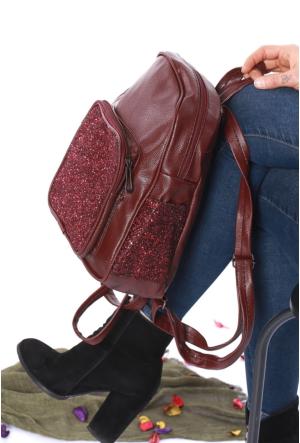 Avb Accessories Bordo Pullu Kadın Sırt Çantası-2505