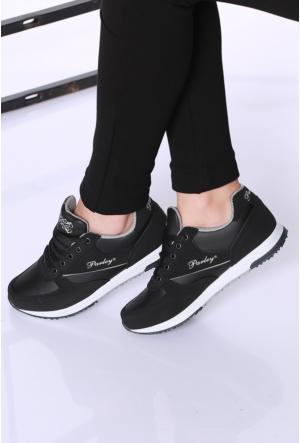Kaya Dericilik Siyah Kadın Spor Ayakkabı-742