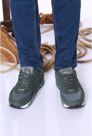 Kaya Dericilik Haki Erkek Spor Ayakkabı-534