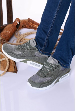 Kaya Dericilik Haki Erkek Spor Ayakkabı-535