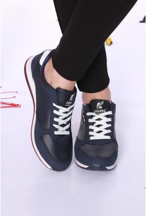 Kaya Dericilik Lacivert Kadın Spor Ayakkabı-2667