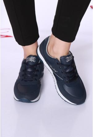 Kaya Dericilik Lacivert Kadın Spor Ayakkabı-742