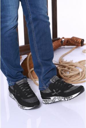Kaya Dericilik Siyah Erkek Spor Ayakkabı-534