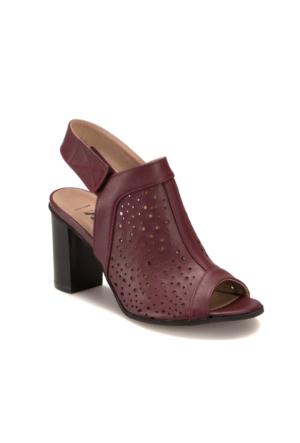 Miss F 304080 Bordo Kadın 402 Sandalet