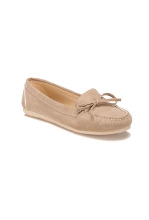 Miss F DS17031 Kum Rengi Kadın Loafer Ayakkabı