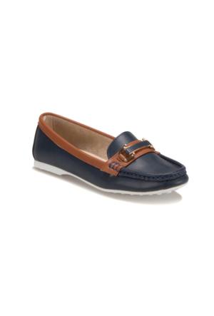 Miss F F18010 Lacivert Kadın Loafer Ayakkabı