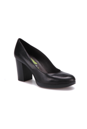 Miss Roberta A7000027 Siyah Kadın Deri Ayakkabı