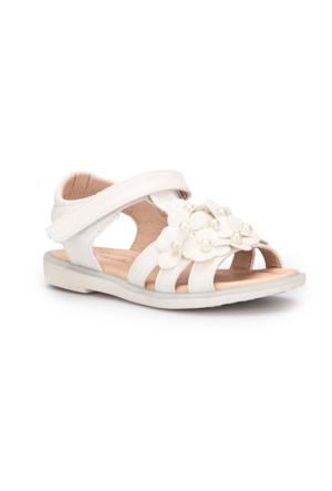 Pink Step Peri Beyaz Kız Çocuk Sandalet