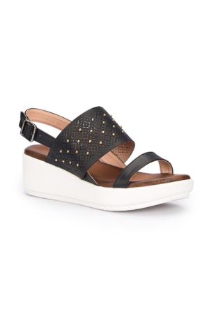 Polaris 71.309947.Z Siyah Kadın Sandalet