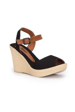 Polaris 71.309980.Z Siyah Kadın Sandalet