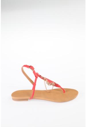 Simoty Kadın Mercan Topuksuz Sandalet