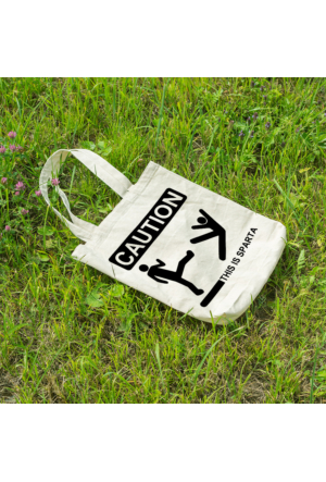 KFBiMilyon Caution ''This İs Sparta'' Baskılı Bez Çanta