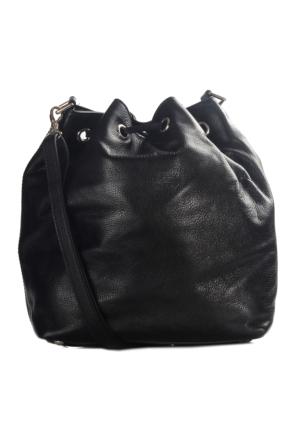 Guzini Palermo Siyah Deri Çanta