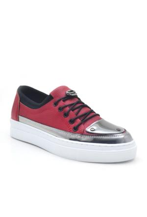 Dizzy Kırmızı Yüksek Taban Spor Günlük Kadın Ayakkabı