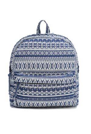 Mavi Kadın Desenli Lacivert Çanta