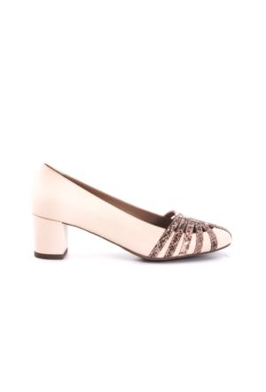 Kemal Tanca Kadın Ayakkabı Pudra