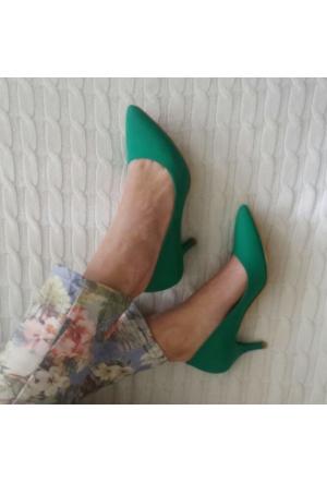 Modabuymus Zümrüt Yeşili 6 cm Stiletto