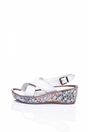 Bueno White 017 Sandalet