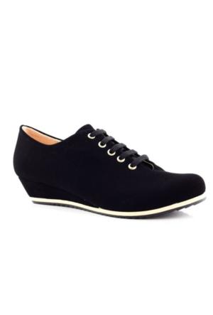 Arow Siyah Nubuk Bağcıklı Kadın Ayakkabı