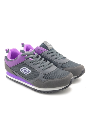Conpax Leila Füme Mor Hafif Rahat Günlük Kadın Spor Ayakkabı