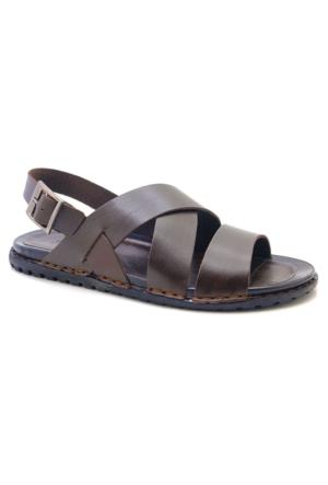 De Carlo Ms-5020 Koyu Kahverengi Erkek Sandalet