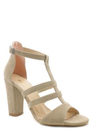 Elvera Krem Yüksek Topuk Abiye Günlük Ayakkabı