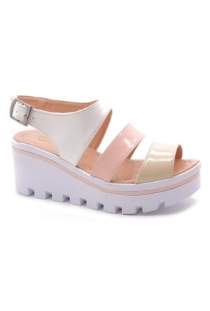 Fantasy 103-3020 Kalın Taban Dolgu Topuk Renkli Kadın Sandalet